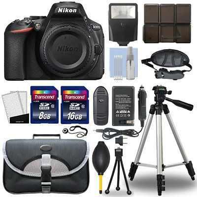 Nikon D5600 24.2 Mp Digital Slr Cámara Cuerpo + Paquete