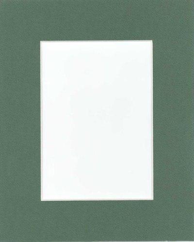 Paquete De 25 11 X 14 Verde Esteras Mates De Imagen Con Colo