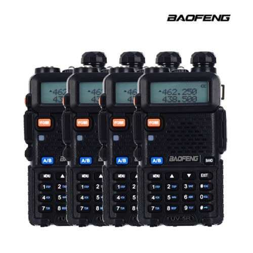 Paquete De 4 Radios Profesional Baofeng Uv-5r Vhf/uhf