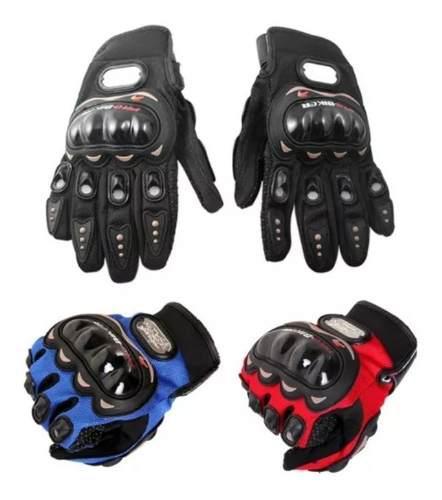 Par Guantes Probiker Para Motociclista Anti Derrape Con Pads