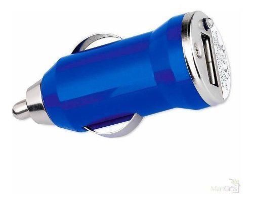 Plug In Cargador De Auto Para Celular Usb 5v 1a Colores