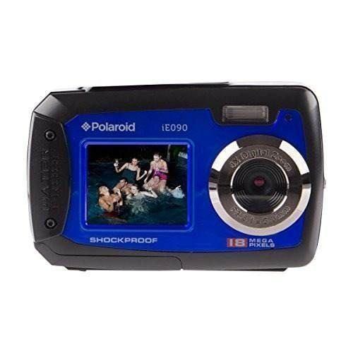 Polaroid Ie090-blu Cámara Digital A Prueba De Agua Con