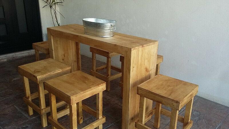 Renta de salas de madera rusticas vintage en Monterrey San