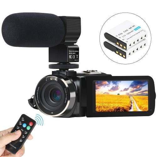 Videocamara Digital Fhd 1080p 24mp 30 Fps Con Microfono