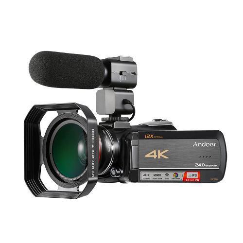 Videocámara Con Cámara Vídeo Digital Andoer Andoer 4k Uhd