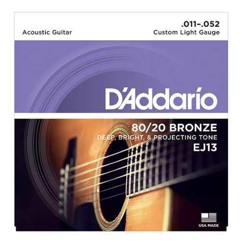 2 Juegos De Cuerdas Daddario Guitarra Acustica Ej ´
