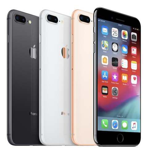 Apple iPhone 8 Plus 256gb +earpods +cable +cubo Orgnl +reglo