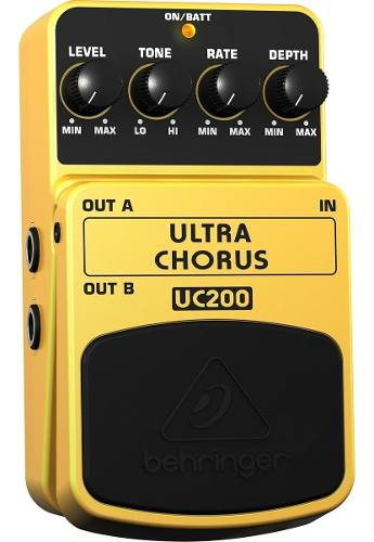 Behringer Uc-200 Ultra Chorus Pedal Para Guitarra Eléctrica