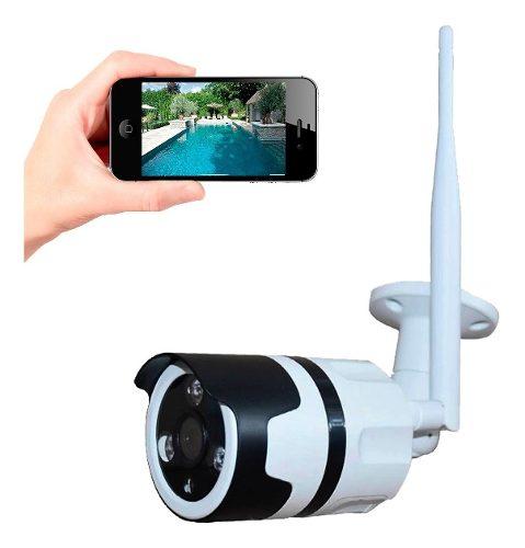 Camara Exterior Ip Vision Nocturna + Sensor Habla Y Escucha