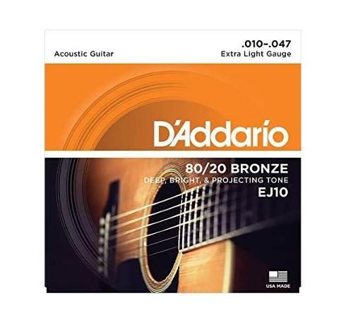 Cuerdas Daddario Guitarra Acustica Ej Envio Inmedia+