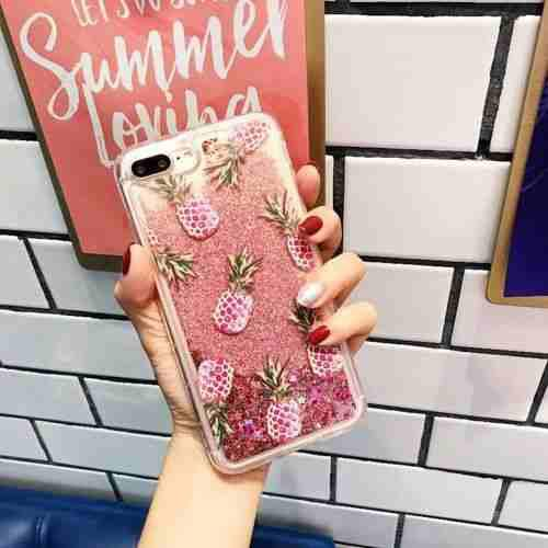 For iPhone 8 Plus - #6 Pineapple - Precioso Lindo Bling-5775