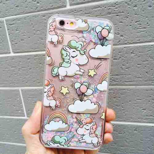 For iPhone 8 Plus - #9 Unicorn - Precioso Lindo Bling D-5779