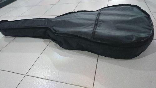 Funda Para Guitarra Acústica Color Negro.