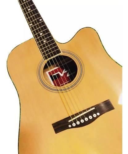 Guitarra Electroacústica Texana 4 Bandas Paquete Completo