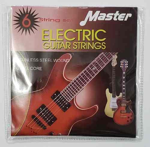 Juego De Cuerdas Para Guitarra Eléctrica 9-42 Marca Master