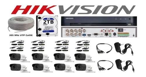 Kit Video Vigilancia 8 Cámaras Utp Hd 5 Mp Disco Duro 2 Tb