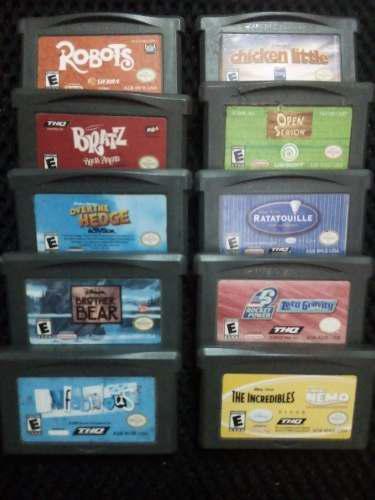 Lote 10 Juegos Infantiles Para Nintendo Gameboy Advance Gba