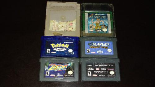 Lote 6 Juegos Game Boy, Game Boy Advance Pokemon Sapphire