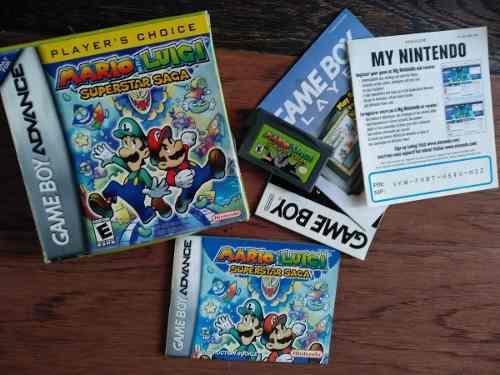 Mario And Luigi Superstar Saga Game Boy Advance