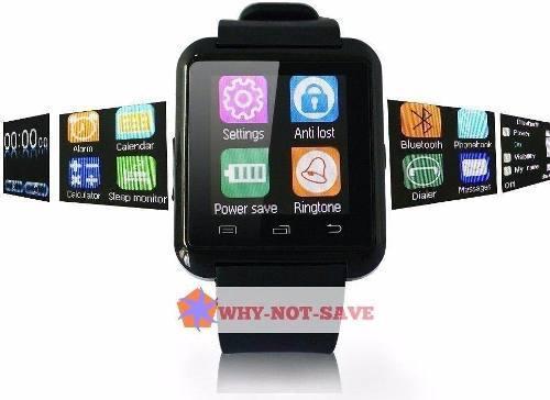 Negro - Bluetooth Smart Muñeca Reloj Teléfono -