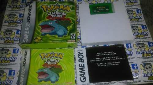 Pokemon Leaf Green Con Caja Para Gba (Envio Gratis)