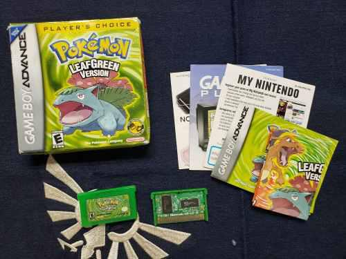 Pokemon Leaf Green Verde Hoja Nintebdo Gameboy Advance