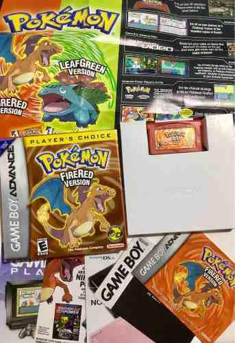 Pokemon Version Fire Red Gba Gameboy Advanced 386 Pokemon