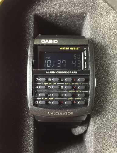 Reloj Casio Vintage Calculadora Negro Digital Ca506b-1avt !!