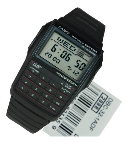 Reloj Casio Vintage Dbc32 Caballero Data Bank Calculadora