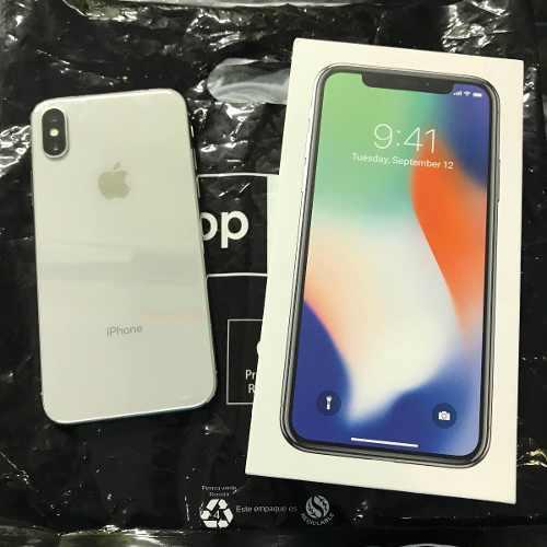 iPhone X 64 Libre Plata Negro 4g Lte Movistar At&t Telcel