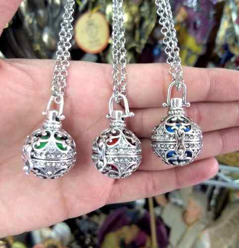 5 Llamadores De Ángeles Circular Con Cristal Precio Mayoreo