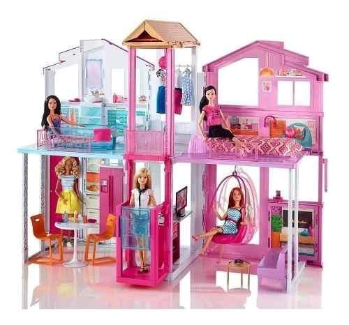 Barbie Casa De Campo Grande Amueblada Con Elevador Niñas