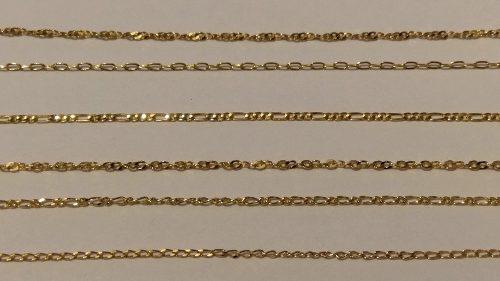 Cadena De Oro Laminado 6 Modelos Diferentes Para Elegir