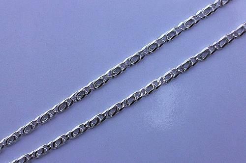 Cadena De Plata Tejido Egipcio En Plata Fina Ley.925 60cm