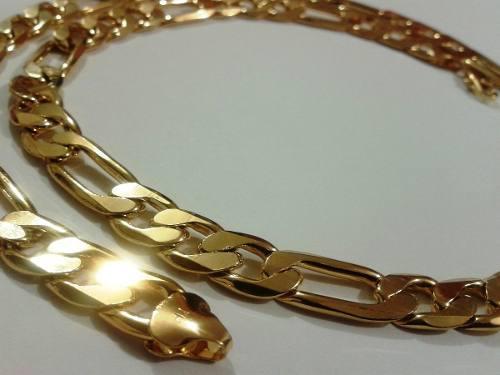 Cadena Tipo Cartier Oro Laminado 18k Gruesa 60cm X 10mm 75gr