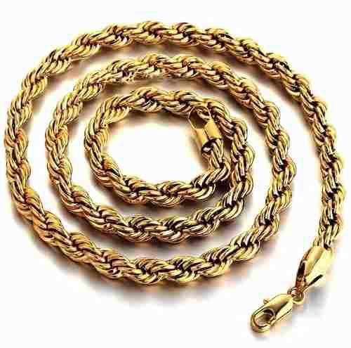 Cadena Torzal De Oro Macizo 14k. 60cm. Y 80grs. Solid Gold