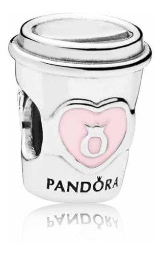 Charm Dije Vaso Cafe Pandora 100% Plata S925 Ale
