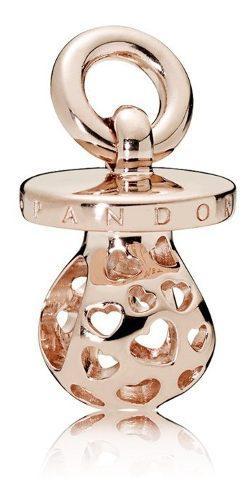 Charm Pandora Chupon Plata S925 Ale Original Rosa Dorado