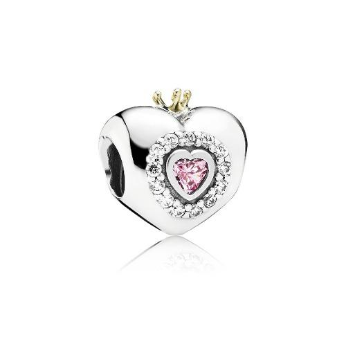 Charm Pandora Corazón De Princesa 100% Plata S925 Ale