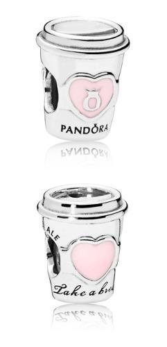 Charm Vaso De Cafe Pandora 100% Plata S 925 Ale