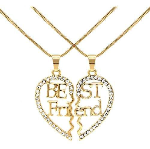 Collar Best Friends Mejores Amigos Amor Corazón Joyería
