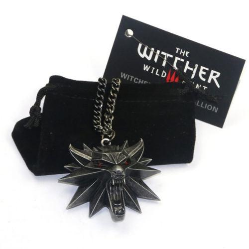 Collar Con Dije The Witcher 3 Medallon Lobo Envio Gratis
