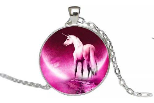 Collar De Unicornio + Brilla En La Oscuridad