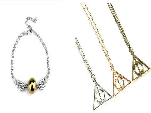 Collar Harry Potter Reliquias D La Muerte + Snitch De Regalo