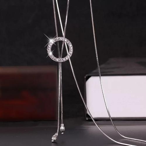Collar Largo Moda Ajustable Swarovski Elements, Regalo