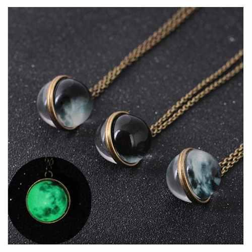 Collar Luna 3d Envio Grati Brilla Oscuridad Moon Lunar Llena