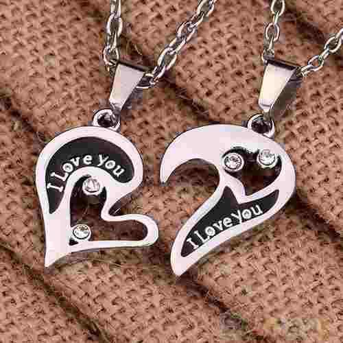 Collar Pareja De Corazón I Love You Envío Gratis