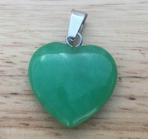 Corazón Jade Malasio Dije Unisex Moda Trendy Tamaño