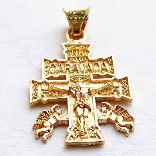 Cruz De Caravaca En Chapa De Oro Atrae Éxito Y Protección