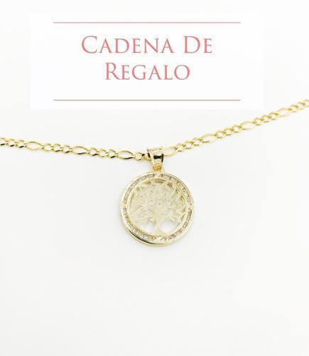 Dije Arbol De La Vida Oro 10k 1.1gr + Cadena De Regalo